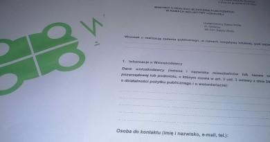 Formularz wniosku o realizację inicjatywy lokalnej